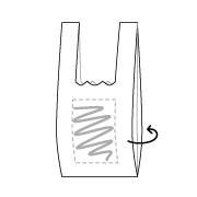 Plastic tassen bedrukken 43 x 6+6 x 25 cm