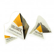 Teabag in triangle pack, pyramid