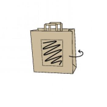 22 x 10 x 28 cm, kraft bruin, 2 zijden bedrukt