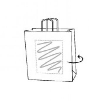 Draagtas gerolde handle, kraft wit, 22 x 31 + 10 cm