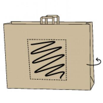48 x 17 x 45 cm, kraft bruin, 2 zijden bedrukt