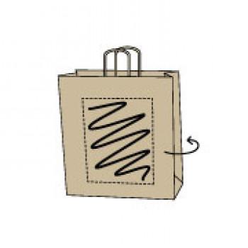 Draagtas gerolde handle, kraft bruin, 26 x 35 + 12 cm