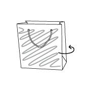 Draagtas papier, 18 x 10 x 22 cm