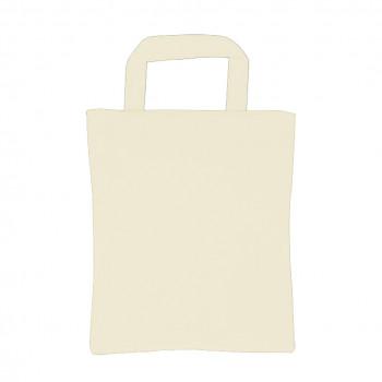 katoenen tas, 22 x 26 cm, wit