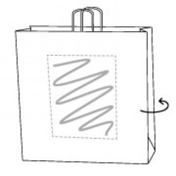 Kraftpapier weiss, 28 x 17 x 29 cm