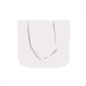 katoenen tas, 45 x 42 cm, wit