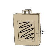 Papiertaschen bedrucken zu günstigen Preisen 32 x 13 x 42 cm