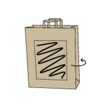 FSC Papiertasche, Kraftpapier weiß, 32 x 13 x 42 cm