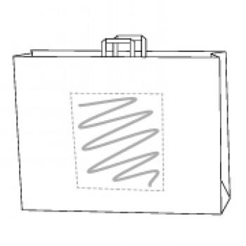 48 x 17 x 45 cm, Kraftpapier weiss, 1-seitig bedruckt