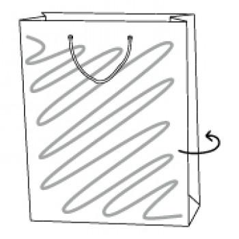 Papiertragetasche, 37 x 10 x 43 cm