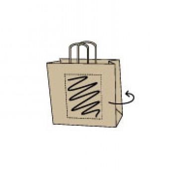 Draagtas gerolde handle, kraft bruin, 14 x 21 + 8 cm