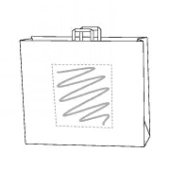 41 x 12 x 32 cm, Kraftpapier weiss, 1-seitig bedruckt