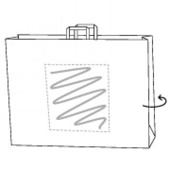 48 x 17 x 45 cm, Kraftpapier weiss, 2-seitig bedruckt