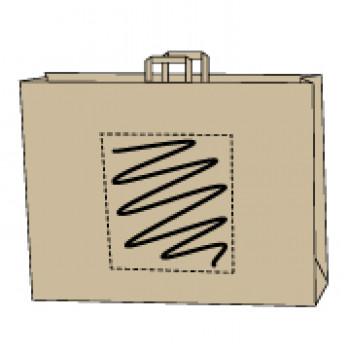 48 x 17 x 45 cm, kraft bruin, 1 zijde bedrukt