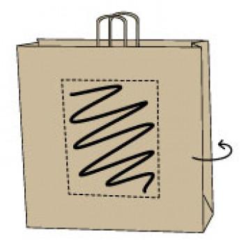 Draagtas gerolde handle, kraft bruin, 45 x 48 + 17 cm