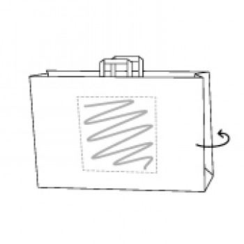 41 x 12 x 32 cm, Kraftpapier weiss, 2-seitig bedruckt