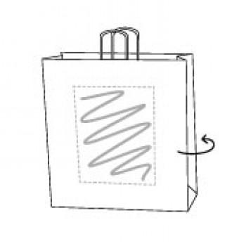 Draagtas gerolde handle, kraft wit, 32 x 41 + 12 cm