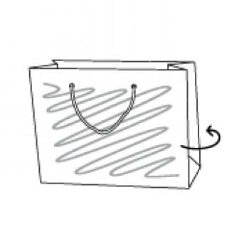 Papiertragetasche, 30 x 8 x 20 cm