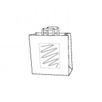 22 x 10 x 28 cm, Kraftpapier weiss, 1-seitig bedruckt