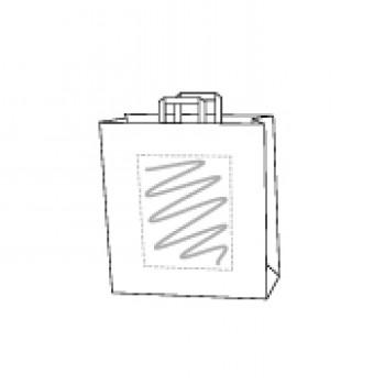 32 x 17 x 27 cm, kraft wit, 1 zijde bedrukt